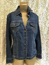 """Live a Little"" LAL NEW Blue Women's Size S Button-Down Seamed Jean Jacket NWOT"