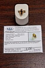 2.85 CT Marquise Faceted Cut Citrine VS2 Clarity 14K Yellow Gold Ring