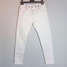 AMBIKA Damen Strech-Jeans  Gr. XS / 36   weiss  Destroyed Look neuwertig