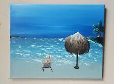 Bahamas,  Original , Acrylic, signed, fantasy, beach