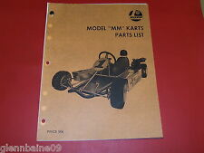 Vintage & Rare  MODEL MM ENDURO  GO-KARTS OWNERS/PARTS LIST MANUAL (6 PAGES)