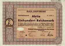 Sächsische Maschinenfabrik vorm. Rich. Hartmann AG 1935 Chemnitz Sachsen 100 RM