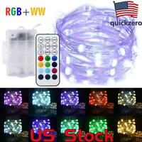 LED Fairy String Lights 5M 50LEDs Battery Operated Remote Control LED lights US