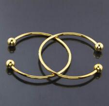 10 Piece Lot 18k Gold Bracelets Bangle Adjustable With Removable Ends D204