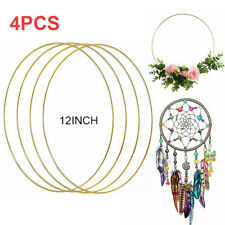 "4pcs Gold 12"" Dream Catcher Dreamcatcher Wind Chime Material Metal Rings Hoops"