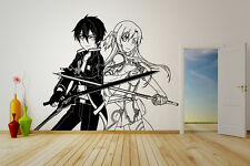Wall Vinyl Sticker Decal Anime Manga SAO Kirito Asuna Sword Art Online V068