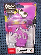 NEW Nintendo Switch amiibo Splatoon 2 Squid Neon Purple not Boy Girl JAPAN F/S