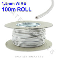 100m ROLL / REEL OF 1.5mm WHITE SIAF HEAT RESISTANT HIGH TEMPERATURE WIRE CABLE