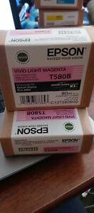09-2017 Genuine Epson 3880 Printer Ink Vivid Light Magenta T580B