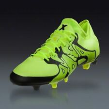 New Men Adidas X 15.1 FG/AG  Soccer Cleats Sz 13 Solar Yellow Black B32782