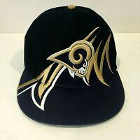 VINTAGE ST.LOUIS RAMS SharkTooth Snapback Hat Cap NFL Team Apparel RARE OSFA NEW