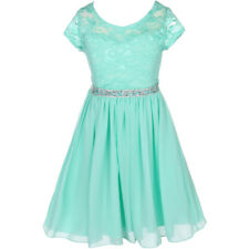 MINT Flower Girl Dress Birthday Pageant Wedding Party Bridesmaid Formal Gown