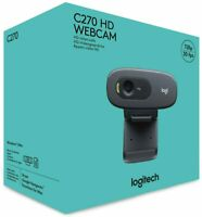 Logitech C270 Webcam 720p HD Video Camera & Microphone For PC, Mac, Laptop USB