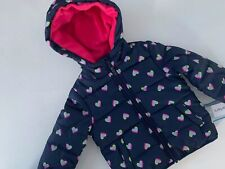 New Carters Navy Multicolor Hearts Hooded Winter Coat...