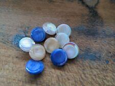 ♥Nr 39- Alte Glasknöpfe Neugablonz bunter Mix 10 St. DM 13  mm ♥