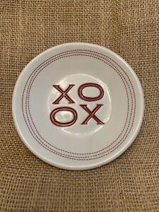 Pottery Barn XO Plate - White Red Love Valentine