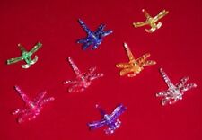 (64) decorative dragonfly orchid nursery plant clips supports 8 colors medium
