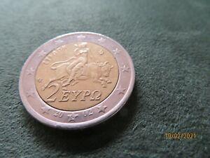pièce de 2 euro Grèce 2002 rare