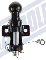 "Black Ball & Pin Towing Coupling ""E"" approved 3.5 ton Tow Ball Tow Hitch Tow Jaw"