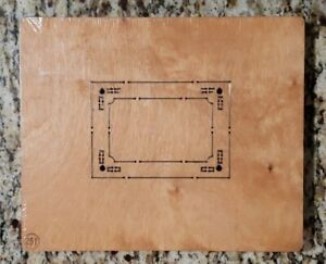 AccuCut Wooden Die Decorative Frame #1 ~ Jumbo P1371J NEW & SEALED