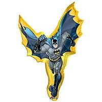 LARGE FOIL SUPERSHAPE BALLOON BATMAN SUPERSHAPE ACTION SHAPE ANAGRAM FOIL BAL...