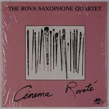 THE ROVA SAXOPHONE QUARTET: Cinema Rovaté AVANT GARDE Jazz Orig '78 LP NM-
