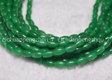 """Green Rice-shaped Emerald 5x8mm Natural Gemstone  Loose Beads 15"""" Strand C1228"""