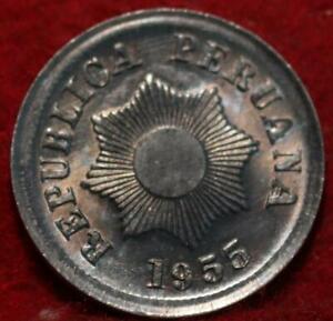 Uncirculated 1955 Peru 2 Centavos Foreign Coin