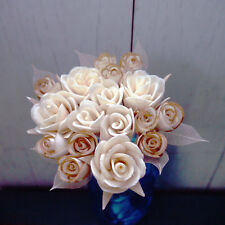 Set of 3 Roses Bouquets of 2-3.5cm Dia. Sola Diffuser Flowers with 10 Inch. Reed
