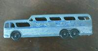 Vintage metal toy Greyhound Scenicruiser bus mid century transportation!