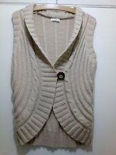 Ladies Size 10 M&S Neutral Beige Cardi Bolero Soft Wool Angora Mix
