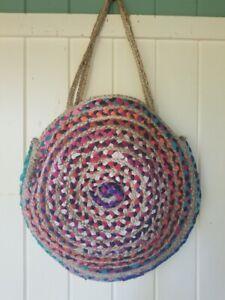 NEW Anthropologie bag ❀ BASKET spring TOTE JUTE boho purse $108