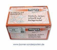 Mayco Befestigungskrallen 250 Stück, 4/0, Nut 4 mm, Fuge 0 mm, für ca. 10 qm