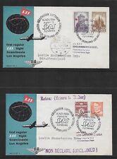 1954 Denmark Sas First Flight Covers
