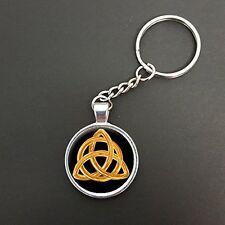 Celtico Ciondolo a forma di progettazione su un Anello Split Portachiavi Ideale Compleanno Regalo n357