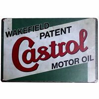 Metal Tin Sign castrol motoroil Bar Pub Home Vintage Retro Poster Cafe ART