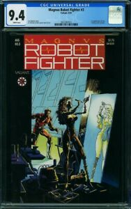 Magnus Robot Fighter #3 CGC 9.4 NM Valiant Comics 1991 Trading cards included