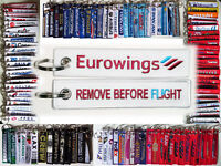 Keyring EUROWINGS Remove Before Flight tag keychain for Pilot Crew