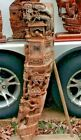 1 ANTIQUE 19TH CENTURY ASIAN ART HAND CARVED WOOD CORBEL ARCHITECTURAL SALVAGE