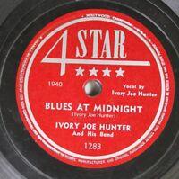 Hear! Blues 78 Ivory Joe Turner - Blues At Midnight / I Love My Man On 4 Star