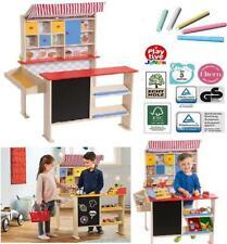 Kaufladen Kaufmannsladen mit Tafel Spiel Kinder Holz Laden
