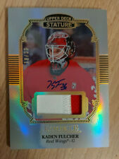 2019-20 UD Stature Kaden Fulcher #115 Rookie Patch Auto RC /33 Detroid Red Wings
