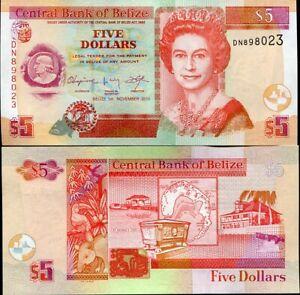 BELIZE 5 DOLLARS 2011 P 67 67e UNC