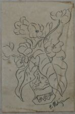 Pencil drawing signed HENRI MATISSE