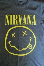NIRVANA Smiley Grey T Shirt Size Small