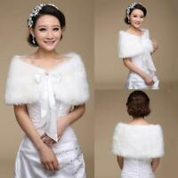 Kunstfell warm Weich Hochzeit Schal Braut Jacke Boleros Wrap Mantel 2018-Mode