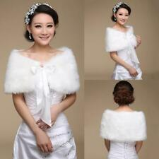 Bridal Faux Fur Coat Jacket Shawl Wedding Cape Wrap Bolero Scalf Shrug Cloak.