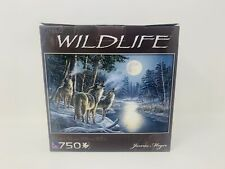Wildlife 750 Piece James Meger Puzzle Moonstruck Wolves new Sealed