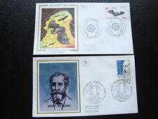 FRANCE - 2 envelopes 1st day 1986 (europa/henri moissan) (cy78)french