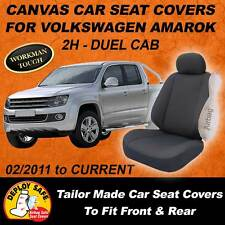 Canvas Car Seat Covers For VW Volkswagen AMAROK Front&Rear  2011-ON Airbag Safe